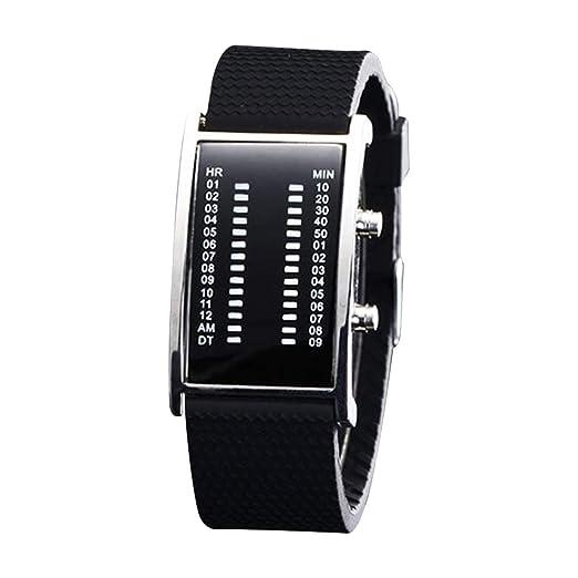 Rosepoem - Reloj Digital de Pulsera de Moda Casual con Forma Cuadrada y Luminosa Pulsera: Amazon.es: Relojes