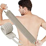 Exfoliating Back Scrubber for Shower Back Washer for Shower for Men and Women Deep Clean (Gray)