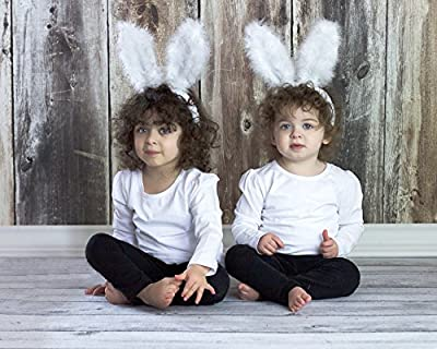 Easter Bunny Rabbit Ears Headband Kids Children's Quality Hair Band Plush Soft Fuzzy White Cosplay