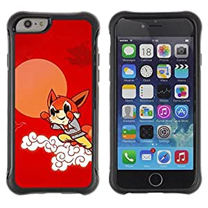 Suave TPU GEL Carcasa Funda Silicona Blando Estuche Caso de protección (para) Apple Iphone 6 / CECELL Phone case / / Cute Flying Fox /