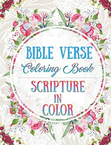 Bible Verse Coloring Book: Scripture in -
