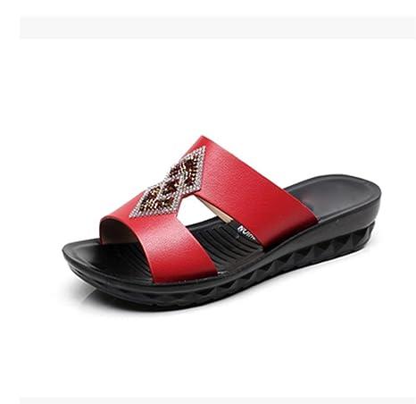 pengweiSandalias del ms del talš®n de cu?a y zapatillas con los deslizadores de la palabra sandalias: Amazon.es: Deportes y aire libre