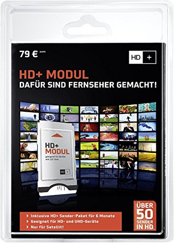 HD PLUS CI+ Modul für 6 Monate (inkl. HD+ Karte, optimal geeignet für UHD, nur für Satellitenempfang)