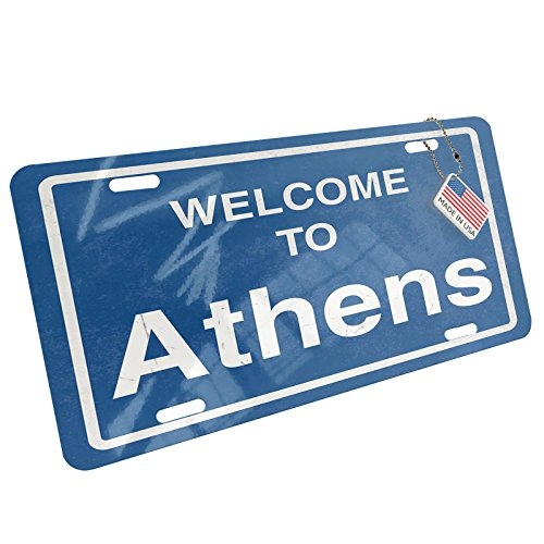Metal License Plate Sign Welcome To Athens - - To Atlanta Athens