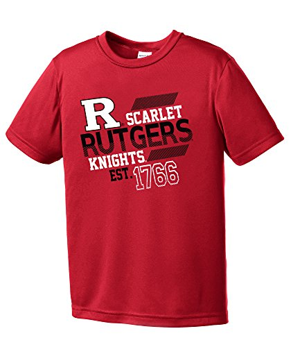 NCAA Rutgers Scarlet Knights Youth Boys Offsides Short sleeve Polyester Competitor T-Shirt, Youth Small,Red