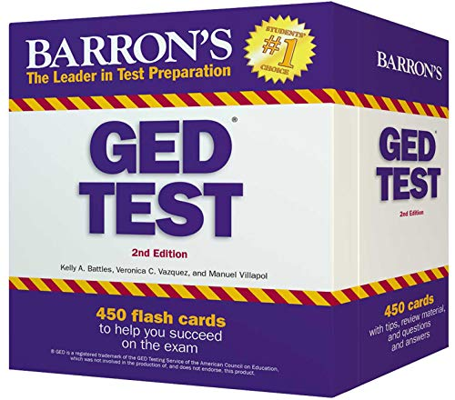 Barron's GED Test Flash Cards: 450 Flash Cards to Help You Achieve a Higher Score (Barron's Test Prep) (All The Best Cards For Exams)