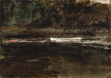 'Andrew Wyeth,Mooring Stump,1962' Oil Painting, 24x34 Inch / 61x86 Cm ,printed On Perfect Effect Canvas ,this Amazing Art Decorative Canvas Prints Is Perfectly Suitalbe For Game Room Gallery Art And Home Artwork And Gifts - Stump Card Game