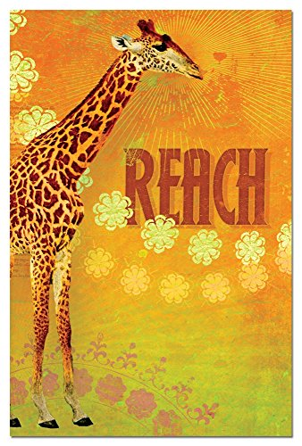 Tree-Free Greetings Eco Notes 12 Count Notecard Set with Envelopes, 4x6 Inches, Reach Themed Giraffe Art (66551)