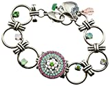 """Mariana """"Eternity"""" Silver Plated Crystal Spanish Roundel Bracelet with Circle Links, 8"""""""