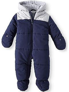 54a5037c2e2d Amazon.com  Tueenhuge Baby Winter Romper Hooded Puffer Zipper ...