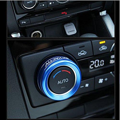 Atenza y Axela muchkey 2015 CX-5 Aesorios decorativos de aluo para aire acondicionado de coche 3