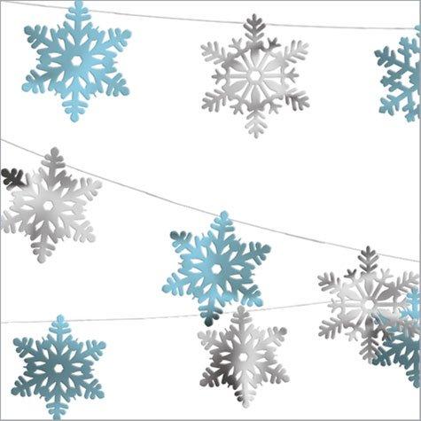 Amscan International 30m décoration de Noël - Guirlande Flocons de neige - en aluminium Amscan International ltd 247790