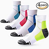 4 Pair Compression Socks for Women and Men, Compression ankle Socks, regular wear, fashion wear -Say Goodbye to your Pain