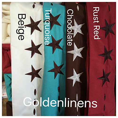 4 Pieces Western Texas Design Star 1800 Egyptian Comfort Bed Sheet Set Deep Pocket Count Wrinkle & Fade Resistant (Queen, Chocolate/ Star ()