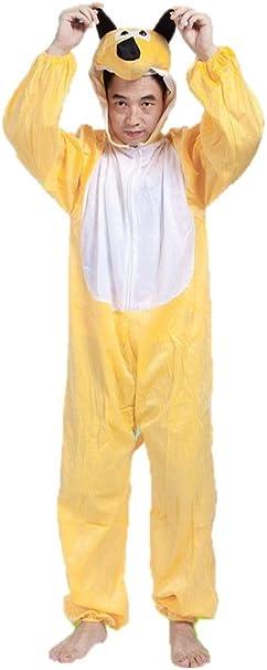 Perro Amarillo Disfraces de Animales Adultos Unisex Pijamas Traje ...