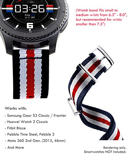 Truffol 22mm 2-Piece NATO Strap for Samsung Gear S3 Frontier