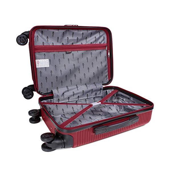 CABIN GO 5512 Valigia Trolley ABS, bagaglio a mano 55x37x20, Valigia rigida, guscio duro e antigraffio con 8 ruote… 3 spesavip