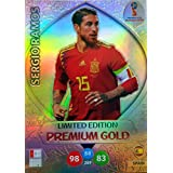ADRENALYN XL FIFA WORLD CUP 2018 RUSSIA - SERGIO RAMOS PREMIUM GOLD LIMITED EDITION TRADING CARD - SPAIN