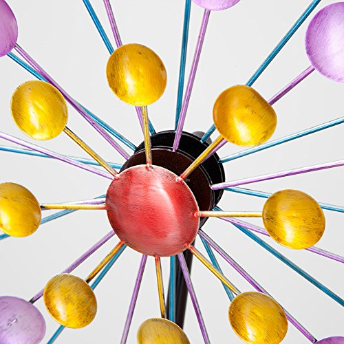 Bits and Pieces - Multi-Color Rainbow Dots Mini Kinetic Wind Spinner Stake - Metal Outdoor Windspinner Sculpture Lawn, Garden, and Yard Decor by Bits and Pieces (Image #3)