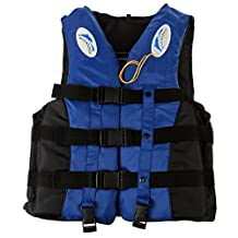 Outop S-3XL Adult Life Jacket Lifesaving Swimming Boating Sailing Vest + Whistle Blue S