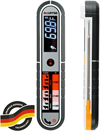 Gourmia GTH9150 Contact & Non Contact Thermometer Dual Meat Thermometer With Digital Thermonuclear & Infrared Readings Dust and Splash Proof (Digital Iphone Meat Thermometer compare prices)