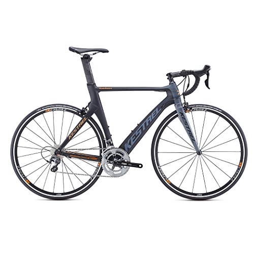 Kestrel Talon Road Shimano Ultegra Bicycle, Satin Black/Gray Blue, 55cm/Medium