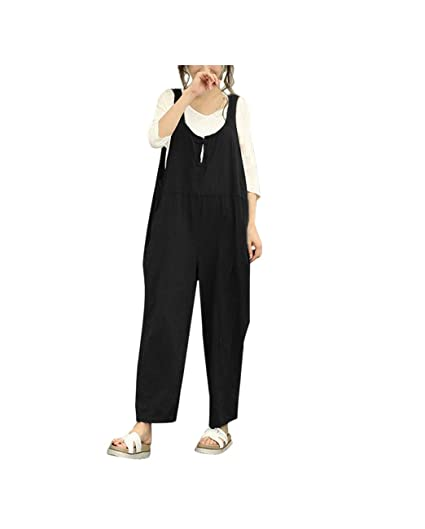 11fdc7a3818 Amazon.com  Rambling New Casual Sleeveless Jumpsuit for Women ...