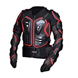 CHCYCLE Motorcycle Full Body Armor Motocross ATV Motorbike Jacket Protector (4XL, Red)