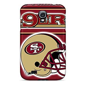 Samsung Galaxy S4 PLt16324tqYn Unique Design High Resolution San Francisco 49ers Pattern Shock Absorbent Hard Phone Cases -MarieFrancePitre