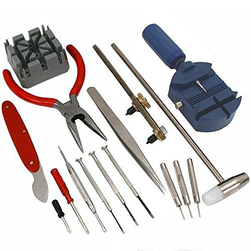 GC - 16pc Watch Repair Tool Kit Band Pin Strap Link Remover Back Opener *US FAST FREE SHIPPER* -