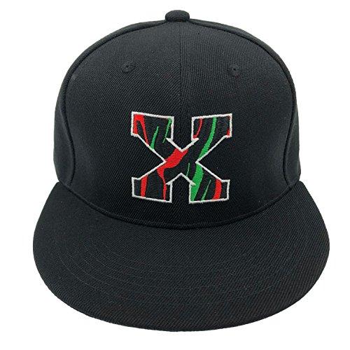 67a1c412db67f Malcolm X Hat Cap Bhm Dad Cap Snapback Custom 90s Embroidered X Vintage  Black Pro (