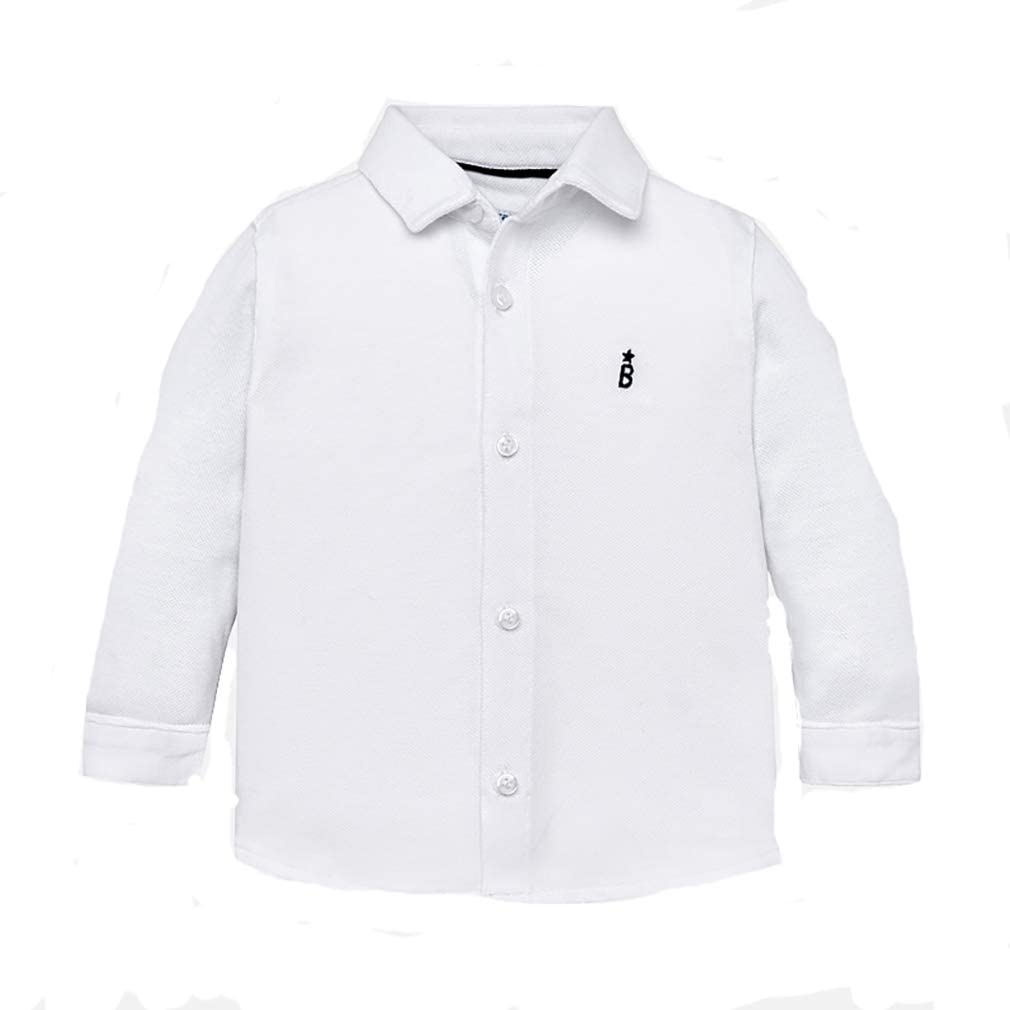 Mayoral - Camisa de Manga Larga para niño Bianco 12 Meses: Amazon ...