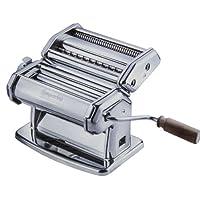 Máquina para hacer pasta Imperia - Construcción de acero para trabajo pesado con esfera de bloqueo fácil y mango de madera - Modelo 150 hecho en Italia