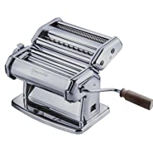 Imperia Pasta Maker Machine - Steel Construction w Easy Lock Dial and Wood Grip Handle-Made in Italy