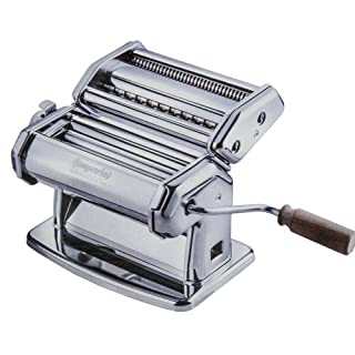 Imperia Pasta Maker Machine - Steel Construction w Easy Lock Dial and Wood Grip Handle-Made in Italy (B0001IXA0I) | Amazon price tracker / tracking, Amazon price history charts, Amazon price watches, Amazon price drop alerts