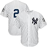 img - for Men's Derek Jeter #2 White Home Baseball Jersey #Only 2 Cool Base Jersey book / textbook / text book