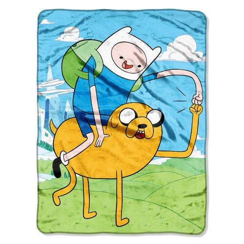 "Adventure Time, Fist Pump Micro Raschel Throw, 46"" x 60"" for cheap"