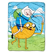 Cartoon Network, Adventure Time, Fist Pump 46-Inch-by-60-Inch Micro-Raschel Blanket by The Northwest Company
