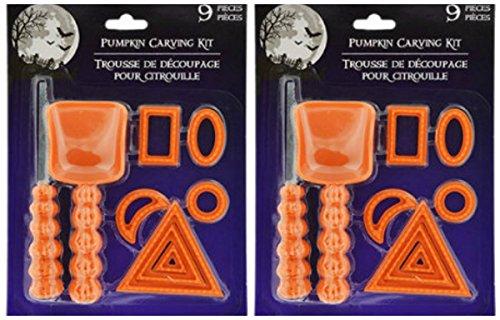 9 Piece Pumpkin Carving Kit (2 piece bundle)