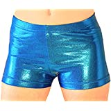 Look-It Activewear Turquoise Jewel Gymnastics and Dance Shorts for Girls and Women
