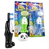 Kids Child Toothbrush Travel Lot of 3 Animal Character Soft Brush Head