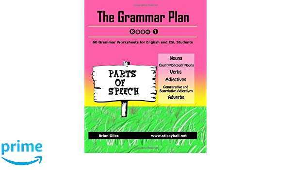 The Grammar Plan (Book 1): Parts of Speech: Step-by-step grammar ...