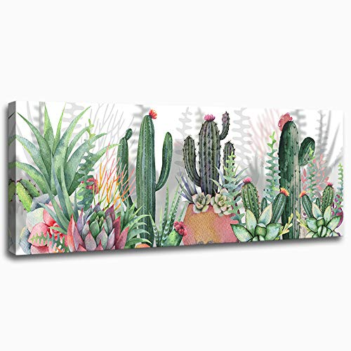- Canvas Wall Art for Living Room Bathroom Modern Family Wall Decor Bedroom Kitchen Artwork Canvas Prints Green Plant Cactus Picture Painting 16