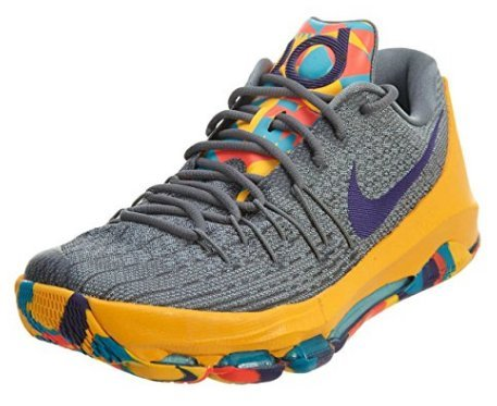 uk availability d0c77 929b4 Galleon - Nike KD 8 Mens Basketball Trainers 749375 Sneakers Shoes (US 9.5, Wolf  Grey Court Purple Cool Grey Blue Lagoon 050)