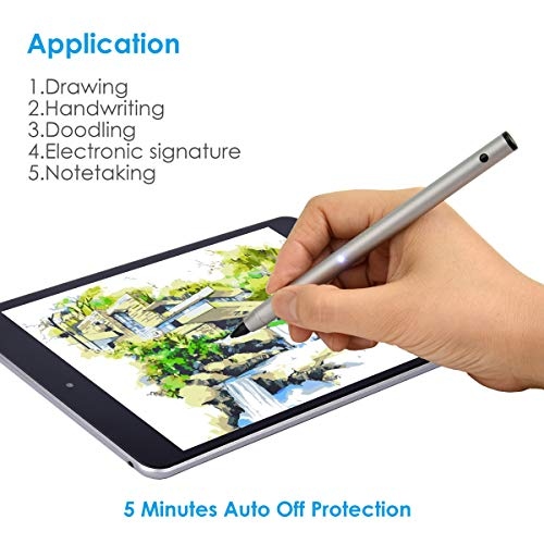 Adjustable Active Stylus Pen with 1.9mm Fine Tip for Precise Writing/Drawing on Most iOS/Android/Windows Touchscreen Smart Phones,Tablets & Notebooks by BOBWOWS (Image #1)