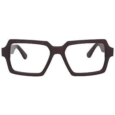 64ab5a76b511 Zeelool Acetate Retro Wood Grain Rectangular Eyeglasses for Men Non- Prescription with Clear Lens Arthur