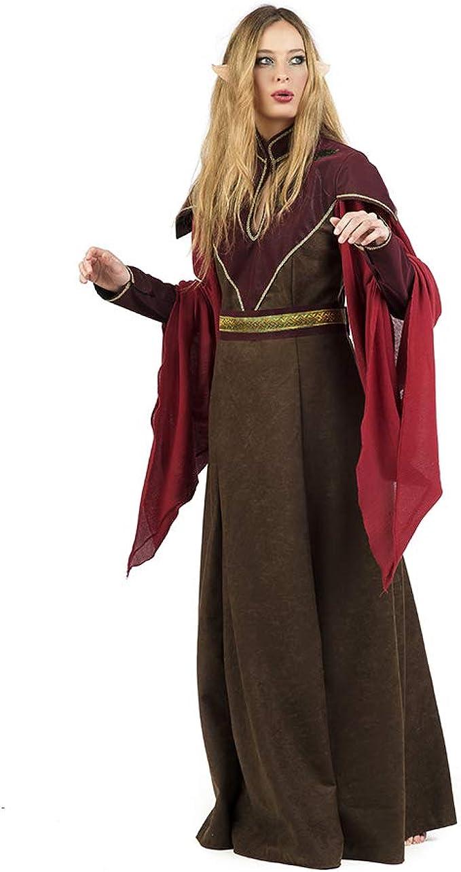 Limit Sport Disfraz de Elfa Marrón Medieval para Mujer: Amazon.es ...