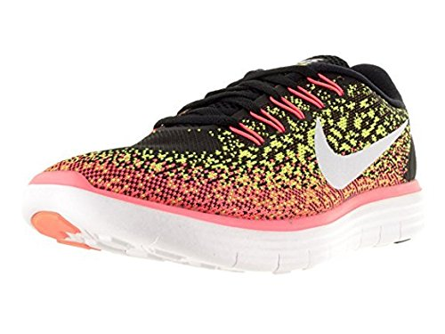 newest a3581 fa984 Galleon - Nike Womens Free Rn Distance Black White Volt Hot Lava Running  Shoe 8.5 Women US
