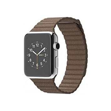 Apple MJ402S/A - Watch 42mm 1ª Generación Smartwatch iOS caja de acero correa Loop de cuero Marrón claro, 42 mm