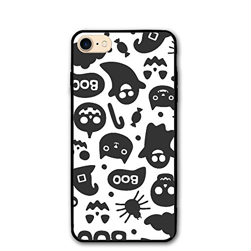 Trendy Dust-proof Cute Seamless Halloween Pattern Healthy Iphone8 (Scratched Face Halloween)